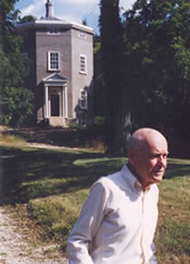 Photo of Clay Lancaster with Warwick Tower in the background.